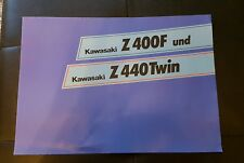 Prospekt Sales Brochure Kawasaki Z 400F Twin Bike Motorrad Moped   автомобиль