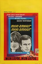 MON AMOUR MON AMOUR Belgian movie poster 1967 JEAN-LOUIS TRINTIGNANT NM