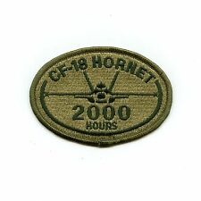 RCAF CAF Canadian CF-18 Hornet 2000 Hours Squadron OD Crest Patch