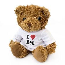 NEW - I LOVE BEN - Teddy Bear Cute Cuddly Gift Present Birthday Valentine Xmas