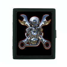 Metal Cigarette Case Holder Box Skull Design-009 Biker