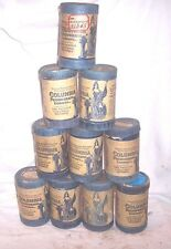 10 COLUMBIA PHONOGRAPH CYLINDER CONTAINERS , NO RECORDS