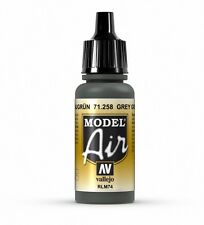 VALLEJO AIRBRUSH PAINT - MODEL AIR - GREY GREEN RLM74 17ML - 71.258
