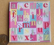 1:12 Scale 7cm x 7cm Nursery Pink Dolls House Alphabet Carpet Mat Accessory 3099