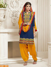 Patiala Indian Desinger cotton dress material- 2651