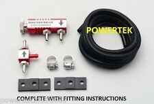 UNIVERSAL MANUAL BOOST CONTROLLER KIT-  ANY PETROL TURBO CAR, & FITTING GUIDE