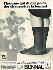 PUBLICITE ADVERTISING 045  1965  LES chaussettes LA BONNAL