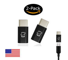 2-Pack of CreatePros USB Type C to Micro USB Adapter Connector (Black)