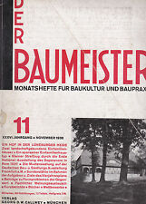 DER BAUMEISTER Nov 1938 Bauhaus era Design Architecture and Interiors 1930s