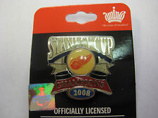 NHL Stanley Cup Champions 2008 Detriot Red Wings Logo Pin