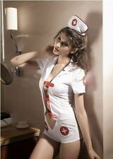 Sexy Women's Naughty Nurse Fancy Dress Costume