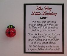 aa TINY LITTLE LADYBUG glass figurine loving good luck fortune health happiness