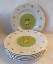 Gibson Max & Lucy Happy Cat Paw Prints Dinner Plates Set Of 6