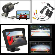 "4.3"" TFT LCD Monitor + 2.4G Wireless Car Truck Rear View Backup Mini Camera Kits"