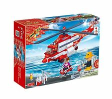 BanBao Fire Helicopter Toy Building Set, 272-Piece