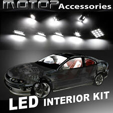 6pcs White LED Bulb Interior Light Package Kit For Honda Civic 2006-2012