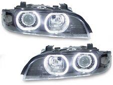 4 Xenon 01-03 BMW E39 5 Series V3 U-Ring LED Angel Halo D2S Headlight+Auto Level