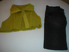 Lot MISS CAPTAIN/CAPTAIN TORTUE (mini gilet et jean délavé), taille 36