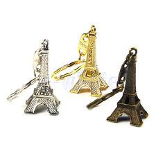 3pcs Paris Retro Mini Eiffel Tower Model Cute Keychain Keyring Keyfob BE