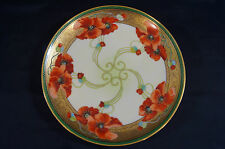 T & V Limoges W Pickard A  Hand Painted by John Fuchs Poppy Charger 1905 - 1907