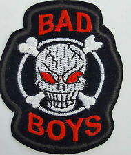 Bad Boys Skull and Crossbones Iron On Badge Transfer Iron on Patch