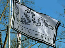 Join or Die Revolutionary War flag 1754 3x5 NEW 3 x 5