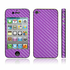 IPHONE 4S FULL BODY CARBON FIBRE SKIN STICKER COVER CASE PERFECT PROTECTION