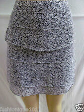 NWT H&M GRAY PAISLEY PRINTS TIERED SHORT SKIRT SIZE 6 US