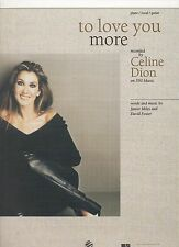 Celine Dion To Love You More (tan cover)   US Sheet Music