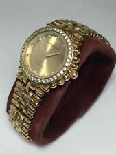 Christian Bernard 18k GP Sapphire Crystal CZ's 1312 Watch For Repair (N536)