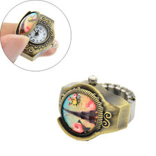Women Retro Eiffel Tower Elastic Stretch Finger Ring Quartz Watch Vintage Gift