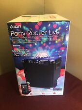 Ion Audio Party Rocker Live Bluetooth Speaker with Party Lights NEW