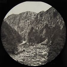 Glass Magic Lantern Slide MOUNTAIN STREAM C1890 PHOTO NORWAY ? SCOTLAND ?