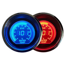 "Universal 2"" 52MM Digital LED EVO Water Temperature Water Temp Gauge RED & Blue"