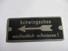 Plaque Bouclier BMW R75 Essieu oscillant Armée allemande WW 2.WK s21 Moto Krad