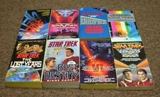 STAR TREK 8 books BEST DESTINY, THE FINAL FRONTIER, THE VOYAGE HOME, T-H-E- LOSt