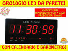 FREE* OROLOGIO DIGITALE DA PER PARETE MURO A LED 46 X 22 CM ULTRAPIATTO SLIM