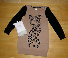 NWT GYMBOREE RIGHT MEOW BROWN LEOPARD SWEATER DRESS FOOTLESS TIGHTS GIRLS 4