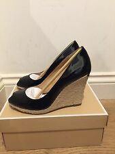 MICHAEL MICHAEL KORS Keegan Wedges Black Patent Leather UK 7 EU 40