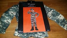 Boys LIL BIG ARMY COMMANDO SOLDIER CAMO Costume Dress Up Size 2T -4t