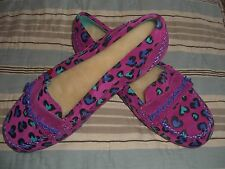 Rare Pink I HEART UGG Penny Cheetah Moccasin Slippers Soft Baby Suede SIZE 7