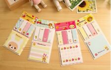 150 sheet cute Rilakkuma post it sticky note memo plus page flags