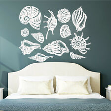 Wall Decals Sea Shell Decal Vinyl Sticker Bathroom Shower Baby Nautical MN796