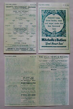1944 F.A. League cup final (North) 2nd leg programme Aston Villa v Blackpool