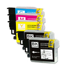 5 Pack BCMY Ink Set For Brother LC61 MFC J265w J270w J410w J415w J615W J630W