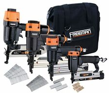 Freeman Four Piece Finish Nailer Combo Kit P4FNCB Nailer NEW