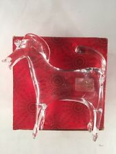 "Viking Clear Glass Horse Made by G. Fox Mid Century 4.75"" tall Paperweight + Box"