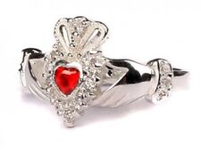 Sterling Silver Irish made July birthstone claddagh ring all sizes available