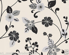 A.S. Creation, Wallpaper, Black & Cream Floral, Leaf, Feature Wall, BNIB 934881