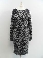 Oasis Sparkle Animal Bodycon Dress Grey SIZE S BRAND NEW BOX8400 Z